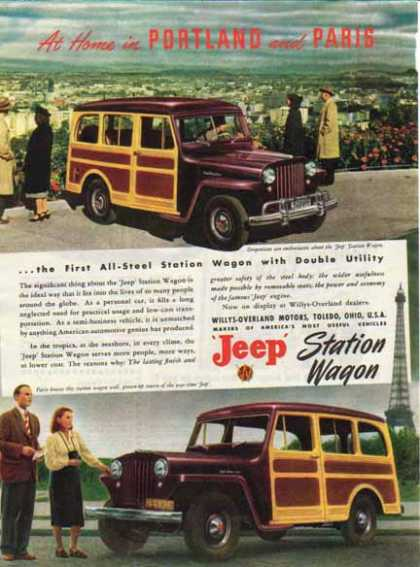 Jeep Station Wagon Car – Portland and Paris (1948)