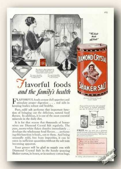 Diamond Crystal Shaker Salt Antique (1928)