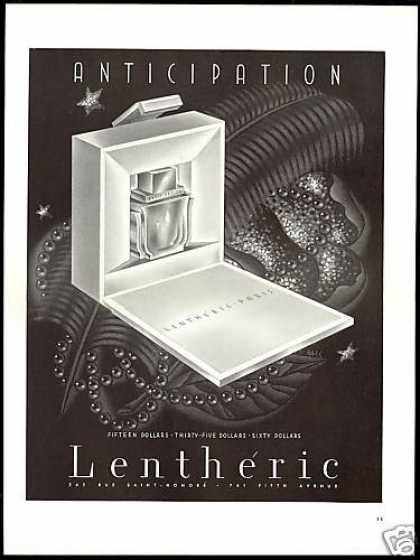 Lentheric Anticipation Perfume Bottle Box (1938)