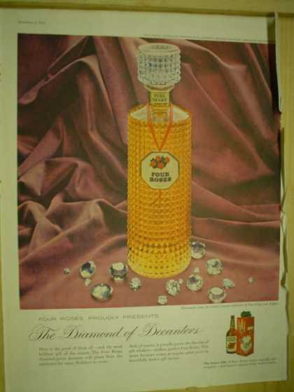 Four Roses Whiskey. The Diamond Decanter (1959)