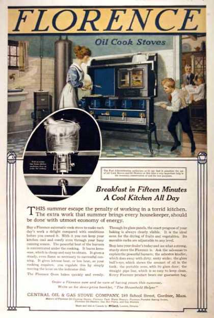 Florence Oil Cook Stove (1918)