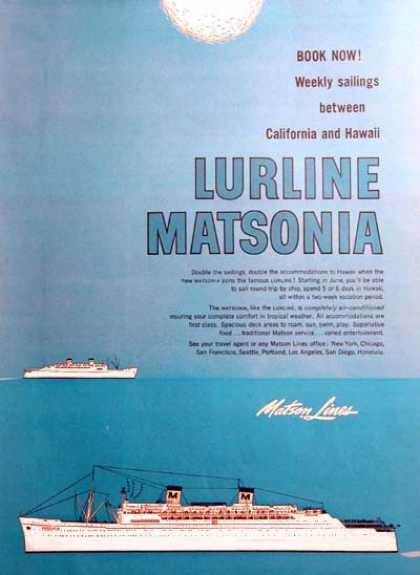 Matson Cruise Lines Hawaii (1957)