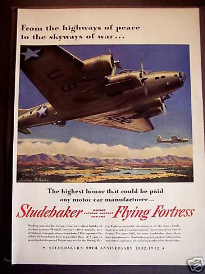 Studebaker Engine for Military Plane Wwii (1942)