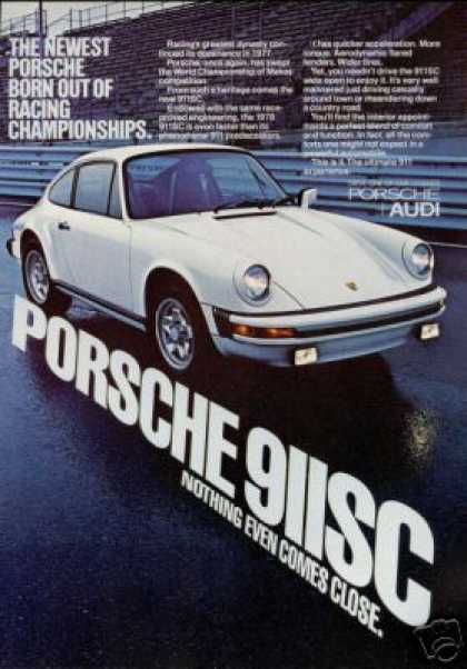 Porshe 911SC 911-SC Vintage Photo Print Car (1978)