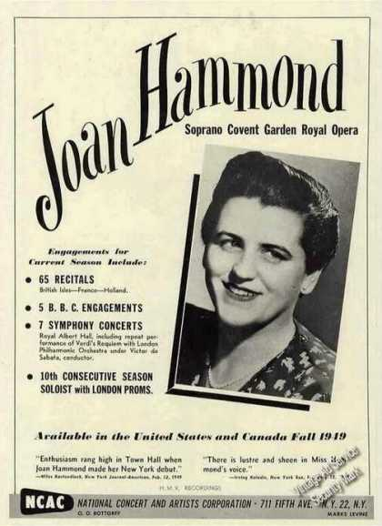 Joan Hammond Soprano Covent Garden Royal Opera (1949)