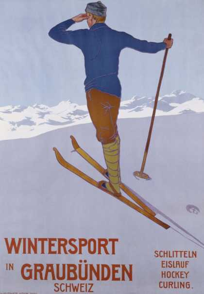 Wintersport in Graubunden (1906)