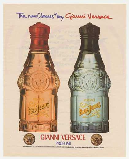 Gianni Versace Red Blue Jeans Bottles Photo (1995)