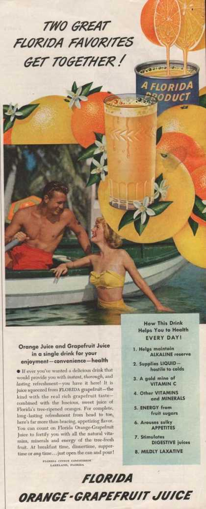 Florida Orange Grapefruit Juice (1950)