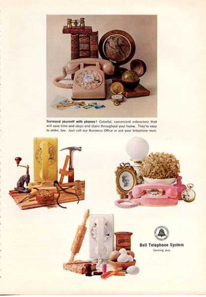 Bell Telephone System Desk Princess Wall Phone (1964)