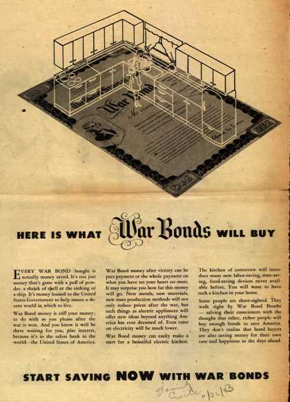 U. S. Government's War Bonds – Here Is What War Bonds Will Buy (1943)
