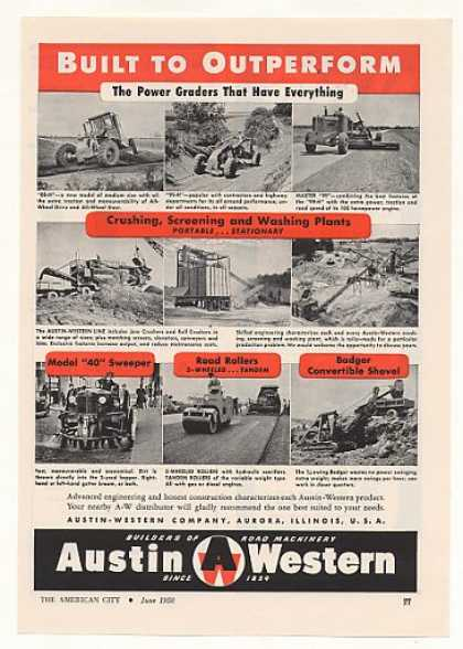 Austin-Western Power Graders Crushers Sweeper (1950)