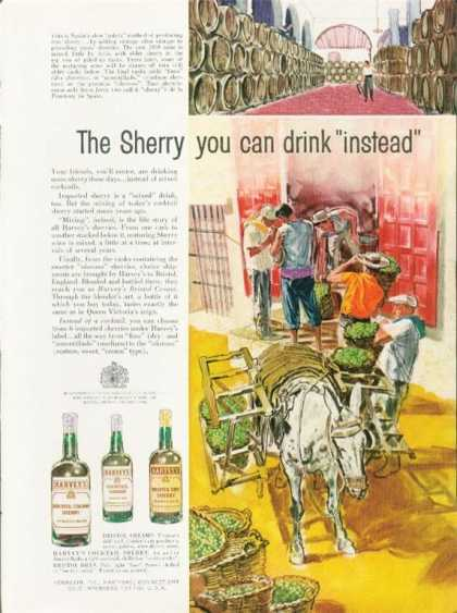 Harveys Bristol Cream Sherry Art (1962)