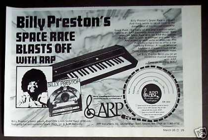 Billy Preston Space Race Record Arp Synthesizer (1974)