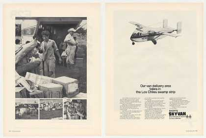 Shorts Skyvan Aircraft Los Chiles Swamp 2-Page (1969)