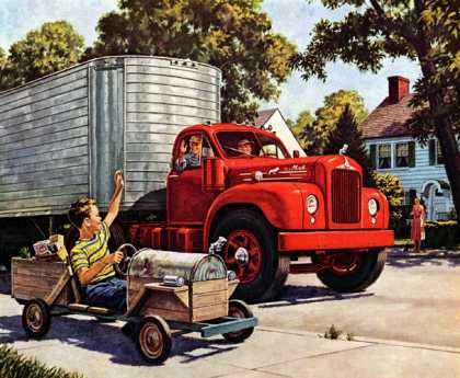 It takes more than a bulldog to make a Mack Mack Thermodyne Diesels (1955)