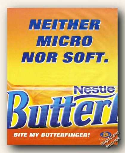 Nestle Bite My Butterfinger Candy (2000)