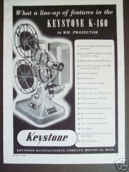 Keystone K-160 16 Mm Movie Projector (1948)