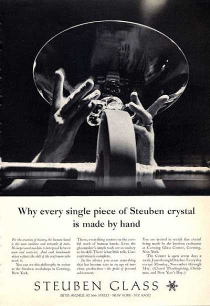 Steuben Glass Crystal How Made (1965)