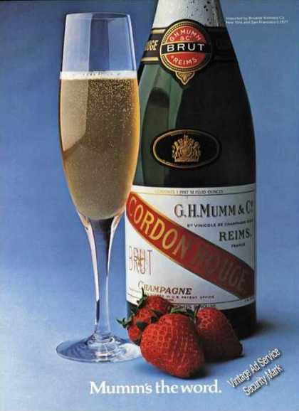 Cordon Rouge Champagne Brut Reims Advertising (1977)