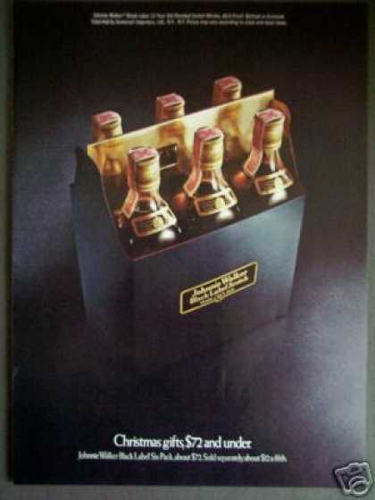 Johnnie Walker Black Label Scotch Whisky 6 Pack (1976)