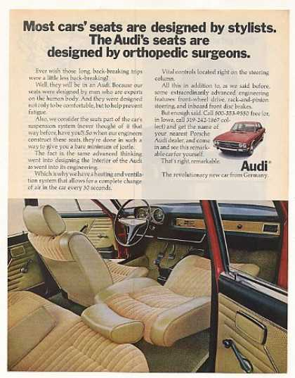 Audi Seats Designed by Orthopedic Surgeons (1970)
