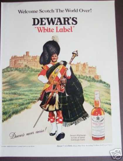 Highlander at Edinburgh Dewar's Scotch Whiskey (1967)