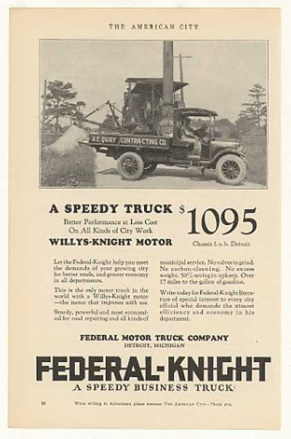 Federal Knight City Motor Truck Photo (1925)