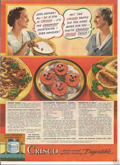 Crisco Vegetable Shortening (1936)