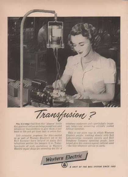 Western Electric Bell System – Transfusion? (1951)