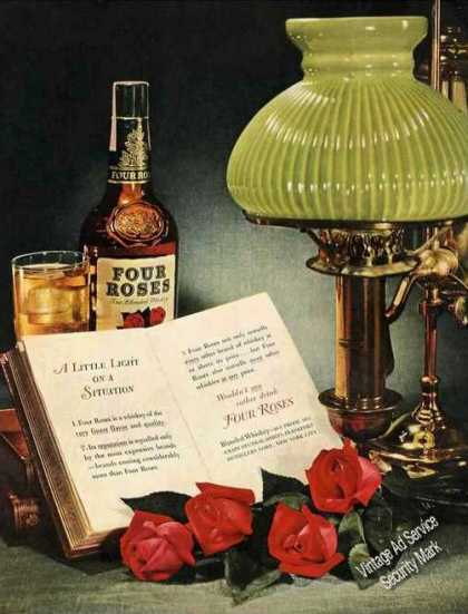 Four Roses Attractive Full Color Traditional (1950)