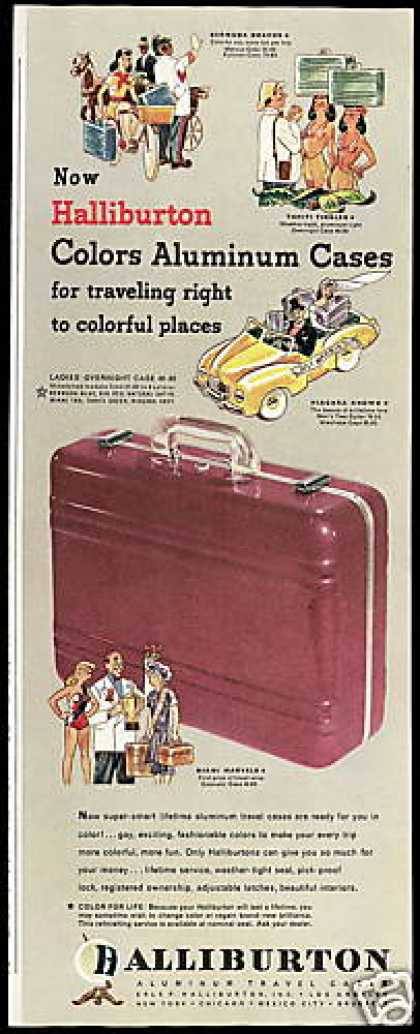 Halliburton Colored Aluminum Luggage (1948)