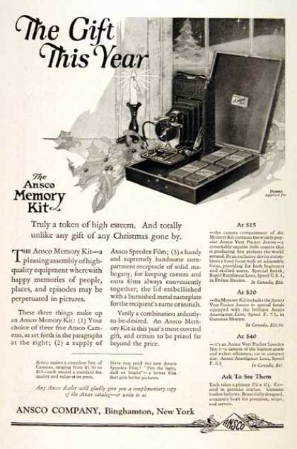 Ansco Camera Memory Kit (1922)