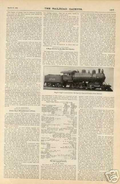 """A Mogul Engine for the New York Central"" (1900)"