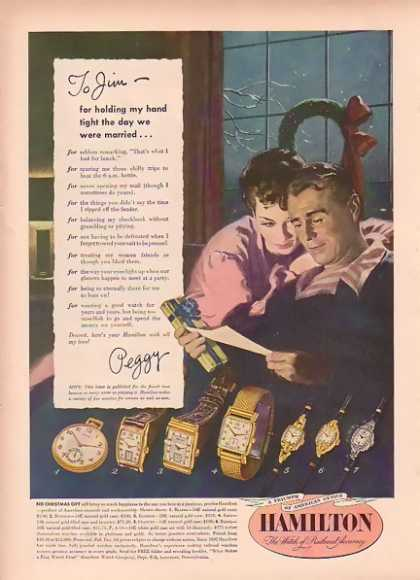 Hamilton Watch Christmas – To Jim (1948)