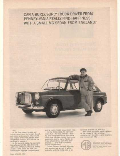 MG Sedan Burly Surly Truck Driver from PA (1965)