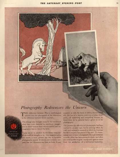 Kodak – Photography Rediscovers the Unicorn (1918)
