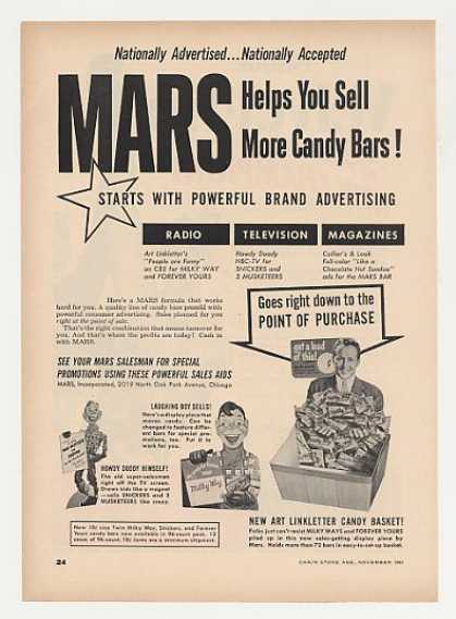 Howdy Doody Mars Candy Bars (1951)