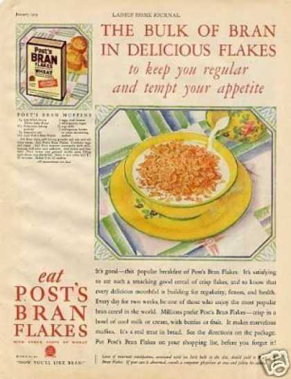Post's Bran Flakes Color (1929)