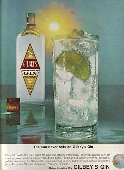 Gilbey's Crisp, London Dry Gin (1964)