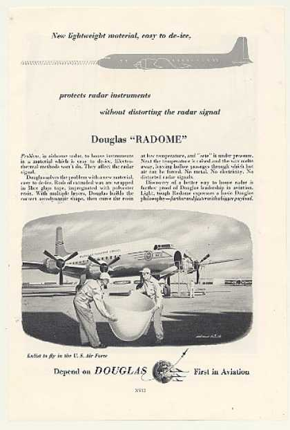 Douglas Radome MATS Military Transport Aircraft (1954)