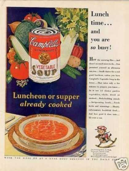 Campbell's Vegetable Soup Color (1929)