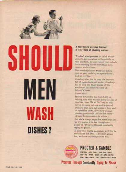 Procter & Gamble – Should Men Wash Dishes? – Sold (1952)