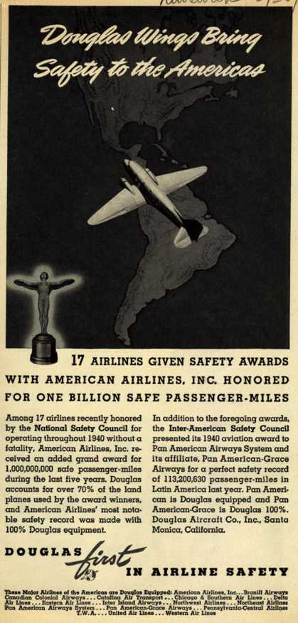 Douglas Aircraft Company's Safety – Douglas Wings Bring Safety to the Americas (1941)