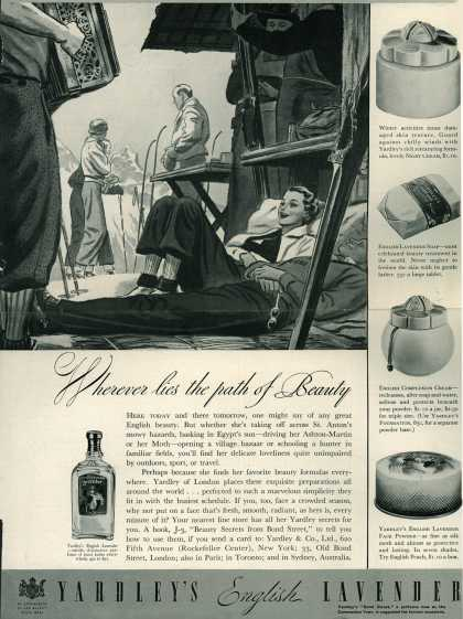 Yardley & Co., Ltd.'s Yardley's English Lavender – Wherever lies the path of Beauty (1937)