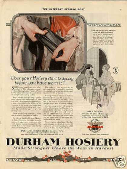 Durham Hosiery Color (1921)