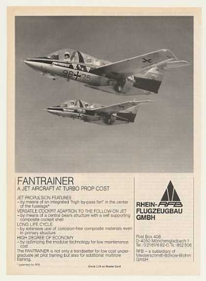 RFB Fantrainer Jet Aircraft Photo (1986)