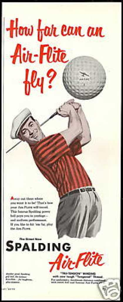 Spalding Air Flite Golf Ball Vintage (1952)