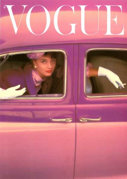 Vogue Cover, Autumn Fuchsia (1957)