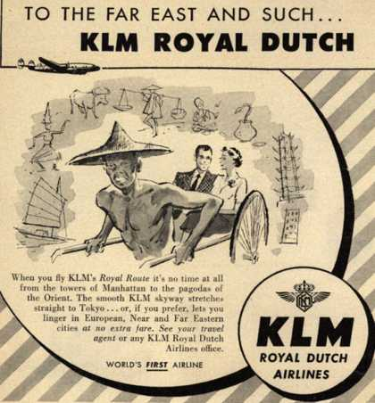 KLM Royal Dutch Airline's Far East – To The Far East and Such... KLM Royal Dutch (1952)