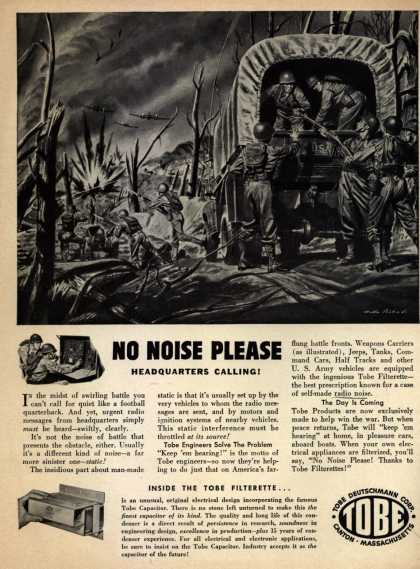 Tobe Deutschmann Corporation's Radio Noise Filters – No Noise Please. Headquarters Calling (1943)